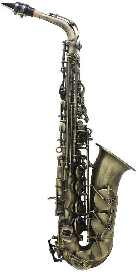 Ammoon Antique Finish Bend Eb Alto Saxophone