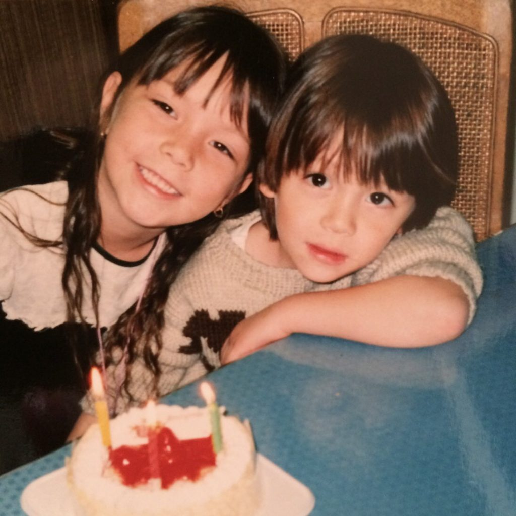 Yasuda Rei with her brother